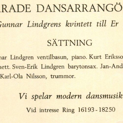Gunnar Lindgrens kvintett